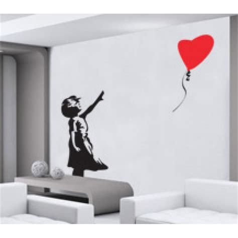 banksy wall stickers banksy balloon wall sticker decal