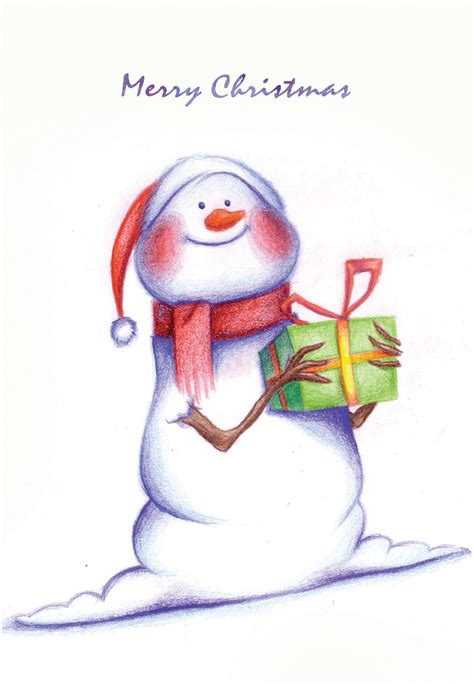 christmas snowman christmas card   island