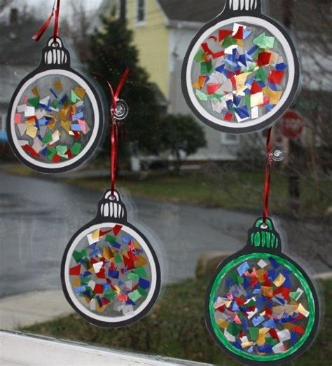 tree decorations children can make ornament for to make i think they sell small laminating sheets that just require