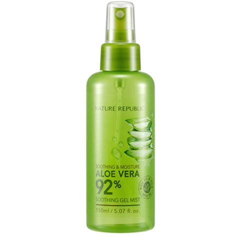 Nature Republic Aloe Vera 92 Soothing Gel Mist Original 20ml naturerepublic soothing and moisture aloe vera 92 soothing gel mist nature republic mist