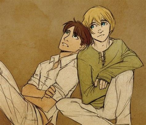 Eremin T Shirt Attack On Titan Anime Eren Jaeger And Armin Arlert aw are those swapped shirts it s small on eren i m