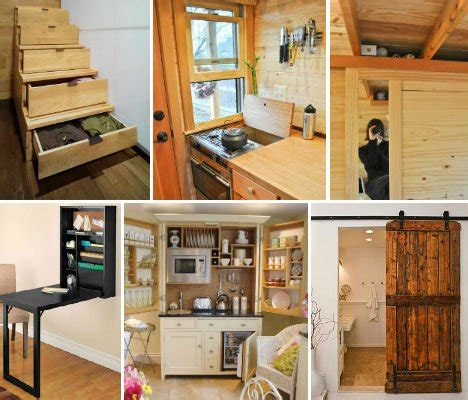 space saving tricks  techniques  tiny houses