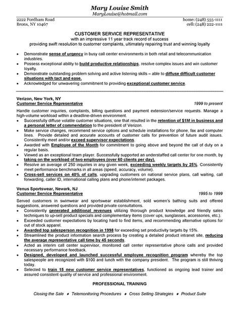customer service representative cv template l r resume exles 1 letter resume