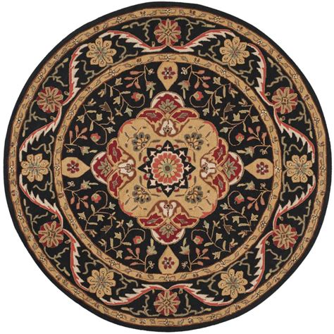 6 ft rugs safavieh easy care black 6 ft x 6 ft area