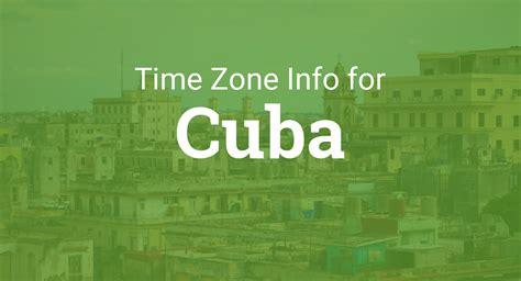 time zones  cuba