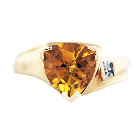 Yellow Gold Citrine by 14k Yellow Gold Trillion Citrine And Ring Boca Raton