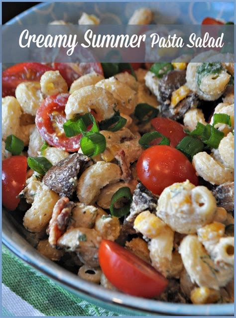 creamy pasta salad recipes creamy pasta salad recipe ftm
