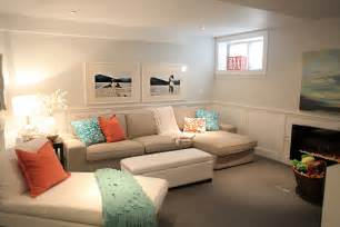 Beach house in the city tour basement family living room ideas no