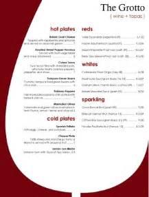 goblet wine bar menu bar menus