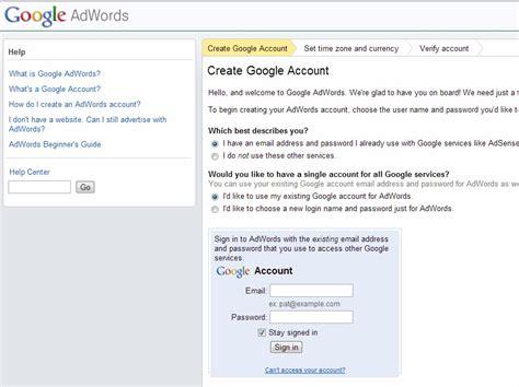cara membuat akun google adwords cara membuat akun google adword bagi pemula