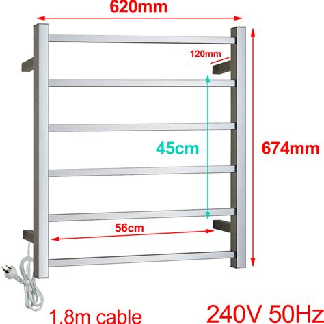 Heated Towel Rack Reviews by Electric Square Heated Stainless Steel Towel Rack Buy Heated Towel Racks