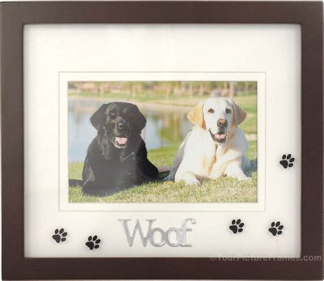 puppy frames woof black picture frame