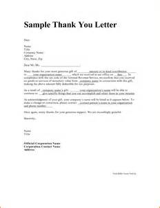 7 thank you letters expense report