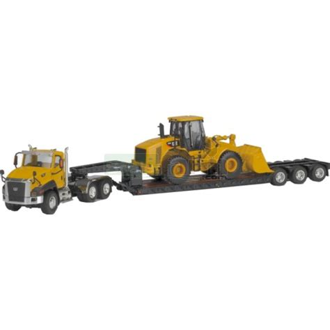 cat trailer norscot 55293 cat ct660 day cab and trail king lowboy