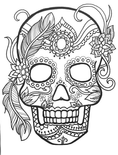 sugar skull coloring page pdf 223 best images about day of the dead color pages on