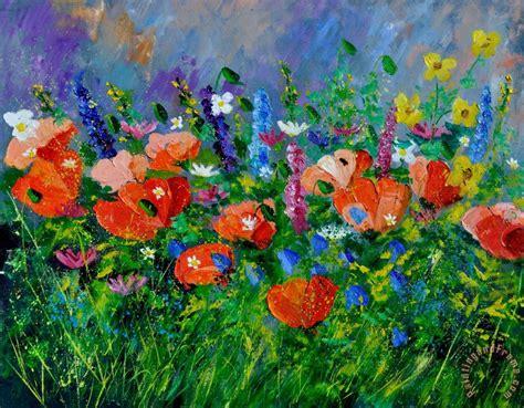 Pol Ledent Garden Flowers Painting Garden Flowers Print Garden Flowers For Sale