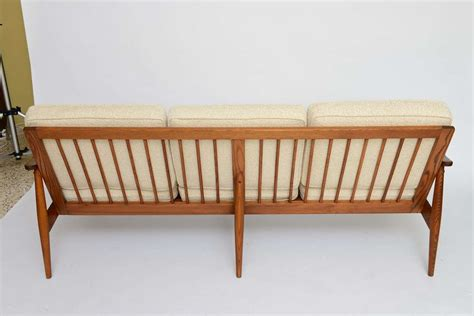 Wide Seat Couches by 50s Spindle Back Wide Arm Three Seat Sofa At 1stdibs