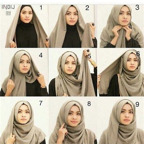tutorial hijab ega d academy this is the simple classic wrap of hijab anyone can make