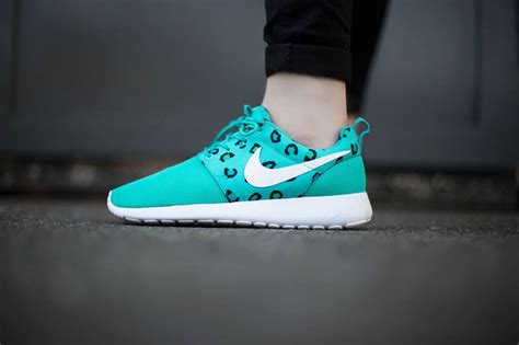 roshe run print sneaker nike roshe run print leopard teal sneaker bar detroit
