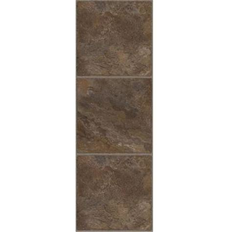 trafficmaster allure 12 in x 36 in chocolate vinyl tile flooring 24 sq ft case 211816 0