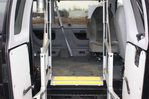 find   ford econoline handicap accessible wheelchair van heavy duty ricon lift
