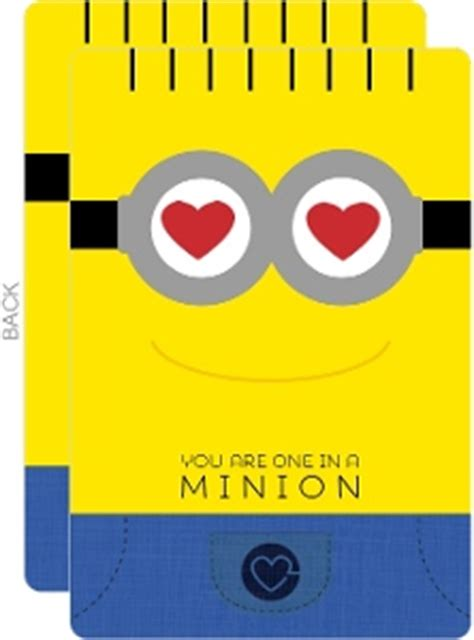 minion card template one in a minion s card valentines day cards