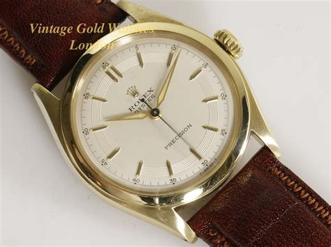 rolex oyster precision 10ct 1952 sold vintage gold watches