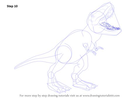 Drawing T Rex Step By Step by Step By Step How To Draw A Tyrannosaurus Rex