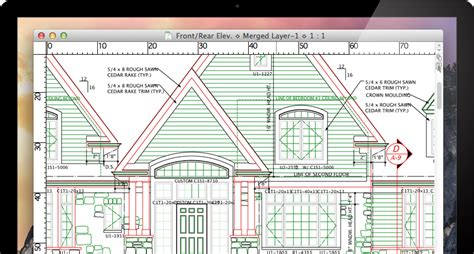 House Plan Drawing Software by Macdraft Professional 2d Cad For Mac Microspot Ltd