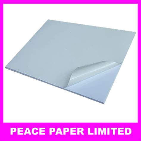 How To Make Adhesive Paper - 100 sheets blank a4 white waterproof matte sticker 180