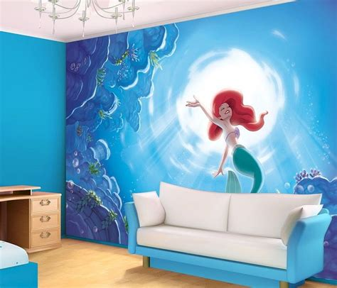 disney wallpaper room decor disney ariel mermaid giant wall mural homewallmurals