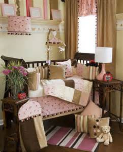 Brown and pink baby bedding amazing selection