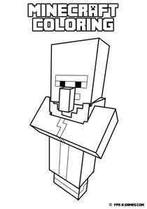 minecraft coloring book printable minecraft coloring villager