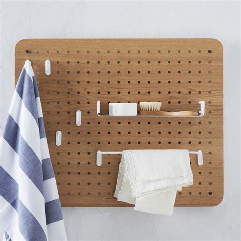 peg board shelves universal expert pegboard organizer contemporary bathroom cabinets and shelves by west elm