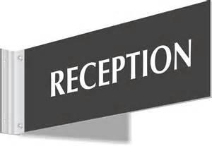 Reception Desk Signs Reception Signs