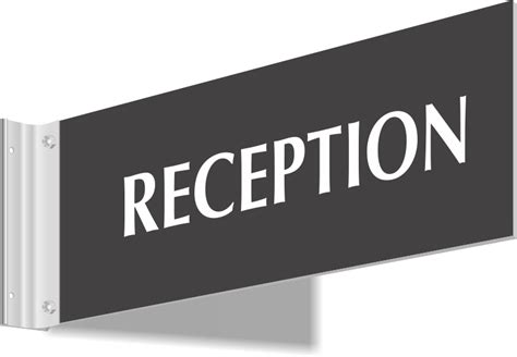 reception desk signs reception signs