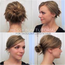 easy buns for shoulder length hair shoulder length hair updo tutorial