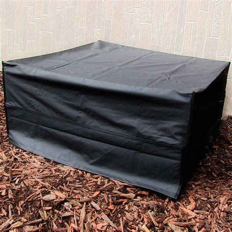 Square Firepit Cover Pit Cover Square Black Lasting Weather Resistant Sizes Ebay