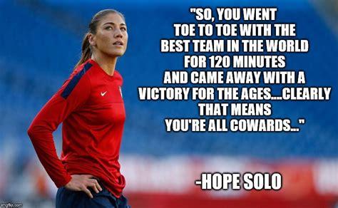 Hope Solo Memes - sportsmanship imgflip
