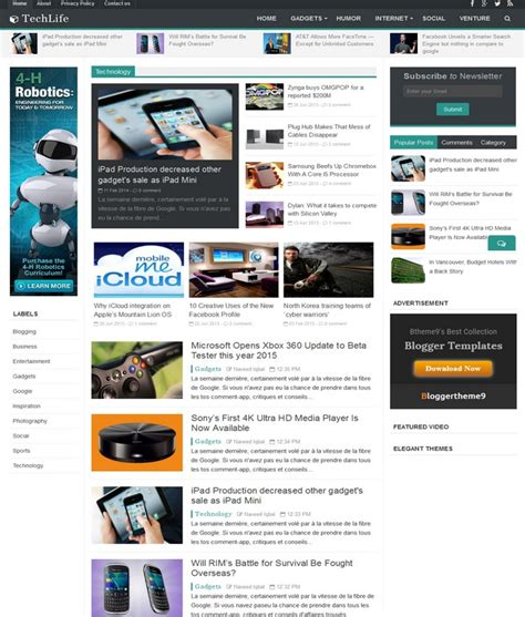 blogspot themes tech tech life responsive blogger template