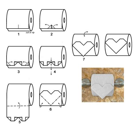 How To Make Toilet Paper Origami - origami toilet paper