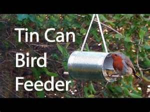 Tin Can Bird Feeder how to make a tin can bird feeder