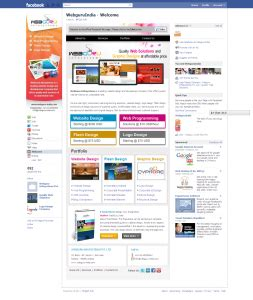 customize fan page webguru infosystems creates its customized