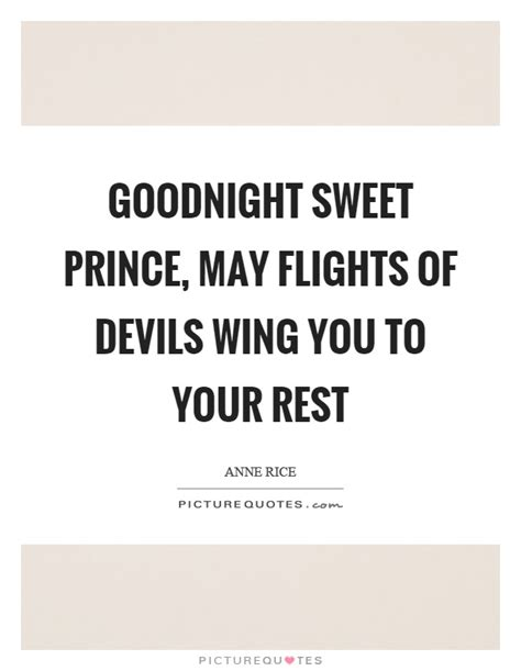 Goodnight Sweet Prince Pillow by Wing Quotes Wing Sayings Wing Picture Quotes