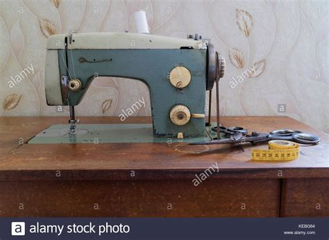 retro sewing machine table vintage sewing machine table stock photos vintage sewing