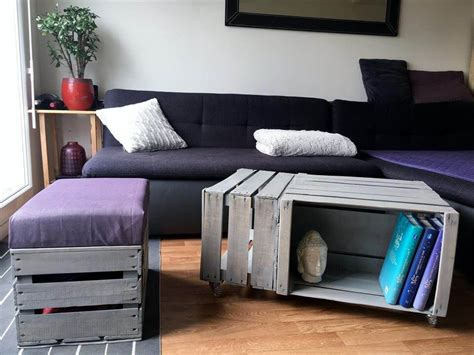 coffee table made out of crates pallet wood made crate coffee table