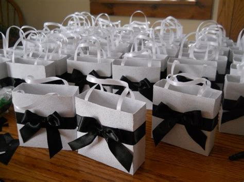 elegant black and white wedding party favor gift bags by