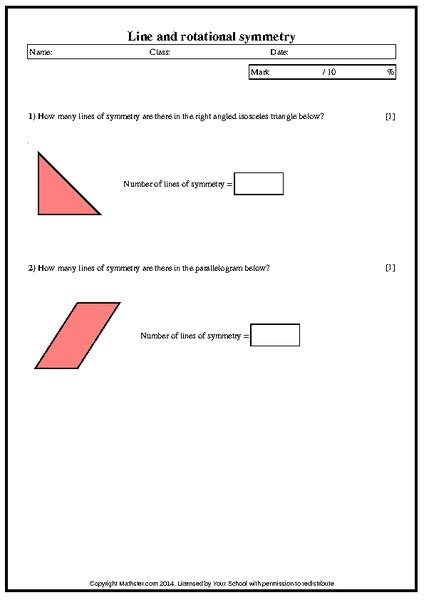 Rotational Symmetry Worksheets by Rotational Symmetry Worksheets 4th Grade Images