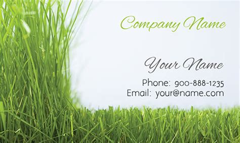 business card template landscape grass gardener business card design 1304021