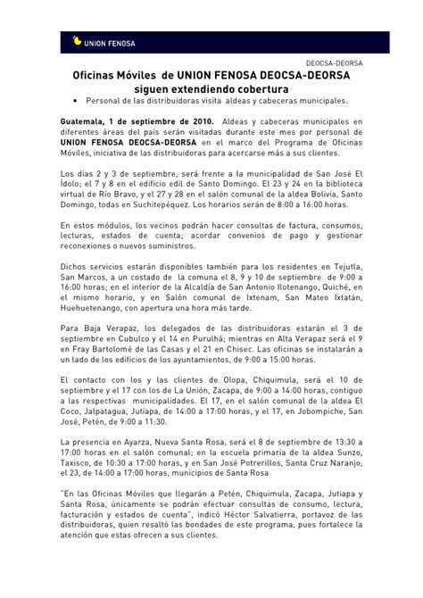 oficina union fenosa oficinas m 243 viles de uni 243 n fenosa guatemala siguen